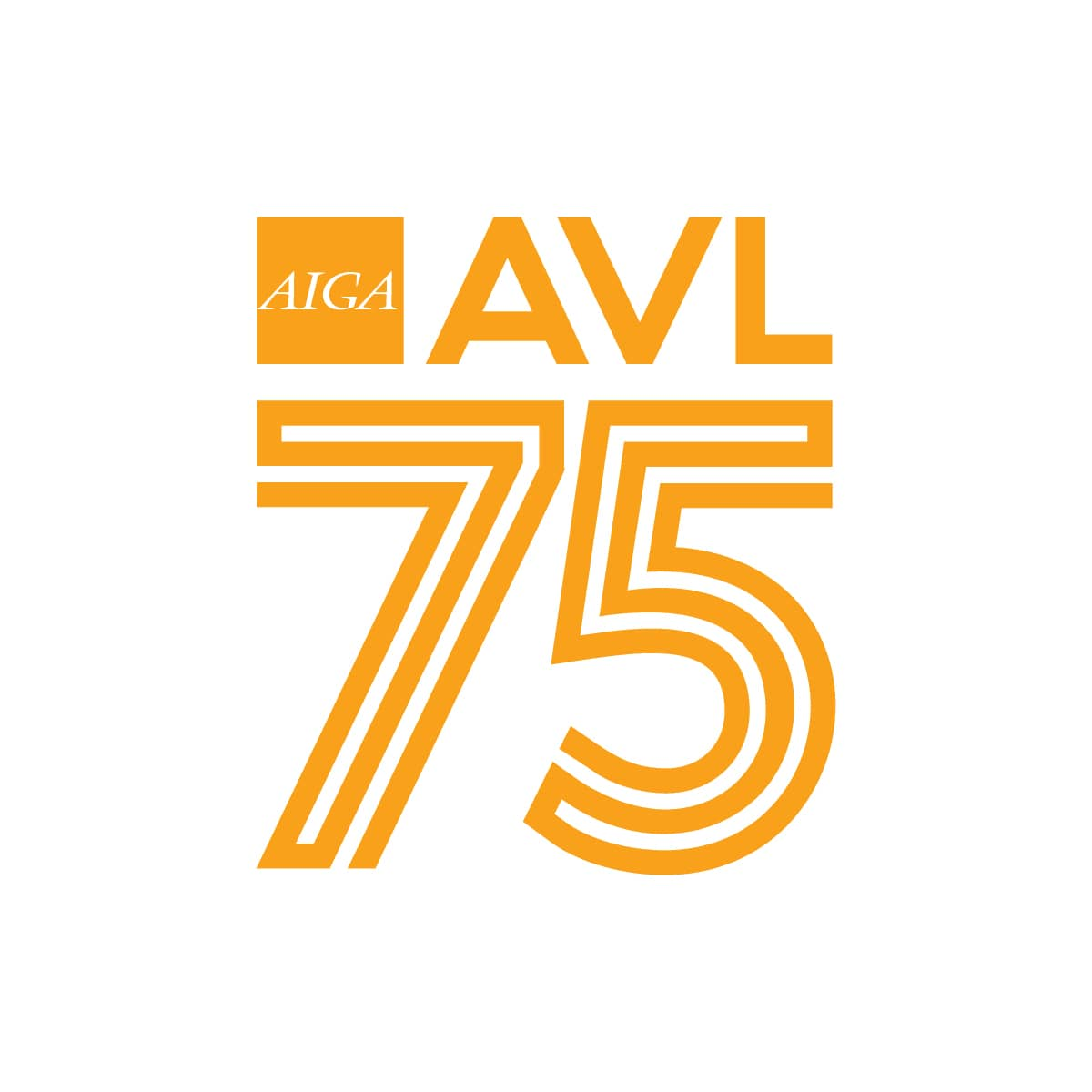 AIGA Asheville - 75th chapter logo